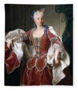 Isabella Farnese. Queen Of Spain Fleece Blanket