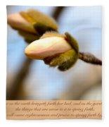 Isaiah 61  V 11 Fleece Blanket