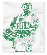 Isaiah Thomas Boston Celtics Pixel Art 15 Fleece Blanket