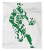 Isaiah Thomas Boston Celtics Pixel Art 2 Fleece Blanket