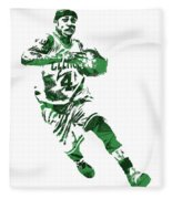 Isaiah Thomas Boston Celtics Pixel Art 5 Fleece Blanket