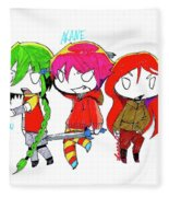 Isamu, Akane, And Amanda Fleece Blanket