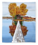 Island Cabin 2 Fleece Blanket