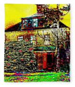 Island Cottage Fleece Blanket