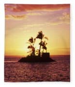 Island Silhouette Fleece Blanket