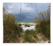 Island Trail Out To The Beach Fleece Blanket