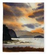 Islands Autumn Sky Fleece Blanket