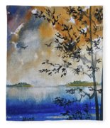 Islands Of Lake Michigan Fleece Blanket