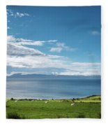Isle Of Arran Under Cloud Fleece Blanket