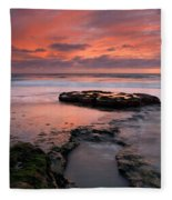 Isle Of The Setting Sun Fleece Blanket