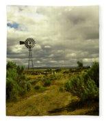 Isolated Windmill Fleece Blanket