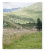 Isskogel Mountain Peak  Fleece Blanket