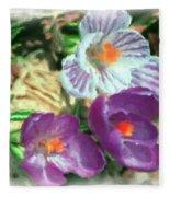 Ist Flowers In The Garden 2010 Fleece Blanket
