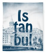 Istanbul Blue Fleece Blanket