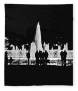 Istanbul Fountain Lights Fleece Blanket