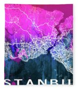 Istanbul Watercolor Fleece Blanket