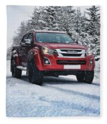 Isuzu In The Snow Fleece Blanket