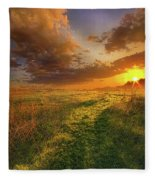 It Hitches The Soul To The Stars Fleece Blanket
