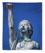 It Is All About The Beads-nola Fleece Blanket