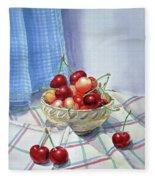 It Is Raining Cherries Fleece Blanket
