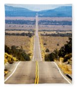 It Only Goes East Fleece Blanket
