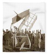 It Was A Good Landing The Pilot Walked Away  Twin Wing Aircraft  Circa 1909 Fleece Blanket