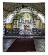 Italian Chapel Interior Fleece Blanket
