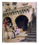 Italian Courtyard Henryk Semiradsky Fleece Blanket