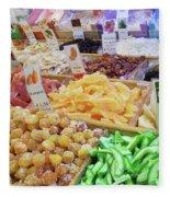 Italian Farmers Market Dried Fruits Fleece Blanket