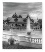 Italian Fountain Maymont B And W Fleece Blanket