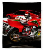 Italian Garage Fleece Blanket