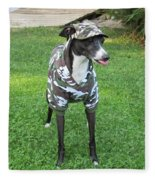 Italian Greyhound Army Fleece Blanket