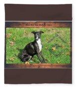 Italian Greyhound Wine Fleece Blanket