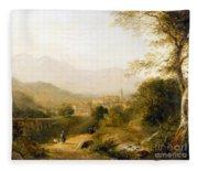 Italian Landscape Fleece Blanket