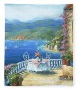 Italian Lunch On The Terrace Fleece Blanket