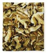 Italian Market Dried Mushrooms Fleece Blanket