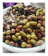 Italian Market Olives Fleece Blanket