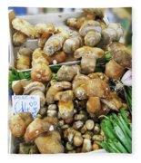 Italian Market Porcini Mushrooms  Fleece Blanket