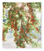 Italian Plum Tree Fleece Blanket