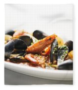 Italian Traditional Seafood Stew  Fleece Blanket