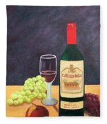Italian Wine And Fruit Fleece Blanket