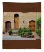 Italy - Door Eight Fleece Blanket