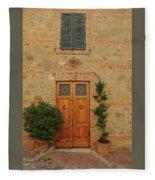 Italy - Door Nine Fleece Blanket