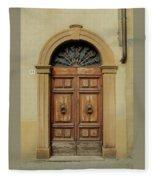 Italy - Door One Fleece Blanket