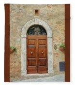Italy - Door Twelve Fleece Blanket