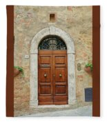 Italy - Door Twelve Fleece Blanket
