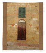 Italy - Door Twenty One Fleece Blanket