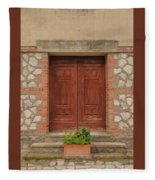 Italy Door - Twenty Six  Fleece Blanket