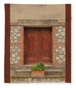 Italy Door - Twenty Six  Fleece Blanket
