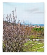 Italy In Spring Fleece Blanket